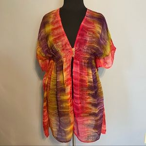 INDIA BOUTIQUE Colorful bathing suit coverup